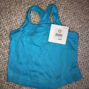 HANNA ANDERSSON blue pima cotton tank top/NWT